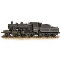 Graham Farish 372-629 Class 2MT Ivatt 2-6-0 46460 in BR lined black Early emblem (weathered)